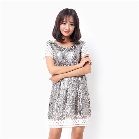 Đầm suông phối ren phong cách hàn quốc