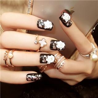 Cùng Mua - Set 24 Nails mong tay cuc xinh kem keo dan mau 383