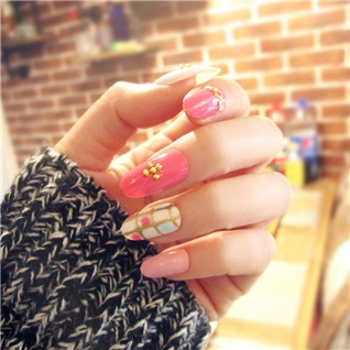 Cùng Mua - Set 24 Nails mong tay cuc xinh kem keo dan mau 368