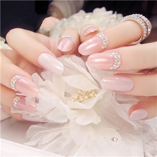 Cùng Mua - Set 24 Nails mong tay cuc xinh kem keo dan mau 381