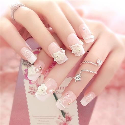 Set 24 Nails móng tay cực xinh kèm keo dán mẫu 379