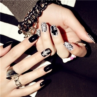 Cùng Mua - Set 24 Nails mong tay cuc xinh kem keo dan mau 366