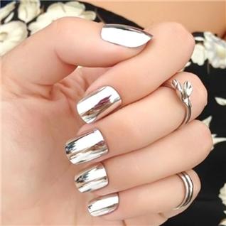 Cùng Mua - Set 24 Nails mong tay cuc xinh kem keo dan mau 384