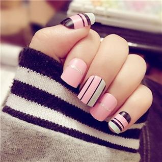 Cùng Mua - Set 24 Nails mong tay cuc xinh kem keo dan mau 362