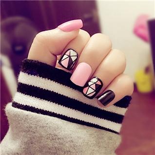 Cùng Mua - Set 24 Nails mong tay cuc xinh kem keo dan mau 373