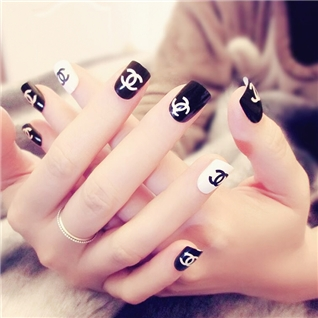 Cùng Mua - Set 24 Nails mong tay cuc xinh kem keo dan mau 369