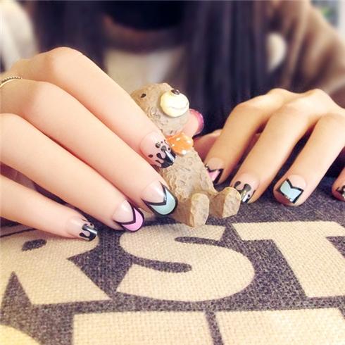 Set 24 Nails móng tay cực xinh kèm keo dán mẫu 363