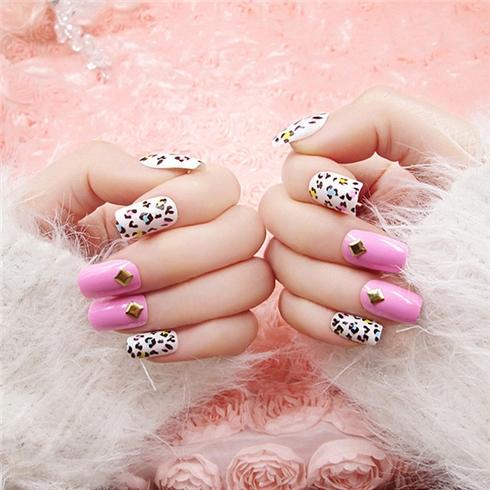 Set 24 Nails móng tay cực xinh kèm keo dán mẫu 378