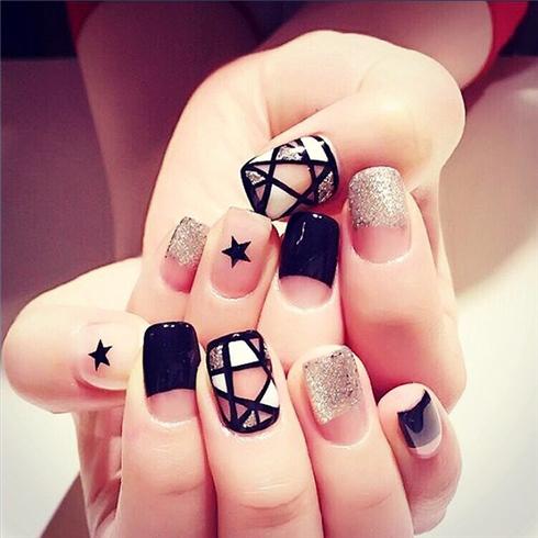Set 24 Nails móng tay cực xinh kèm keo dán mẫu 364