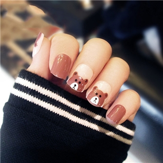 Cùng Mua - Set 24 Nails mong tay cuc xinh kem keo dan mau 367