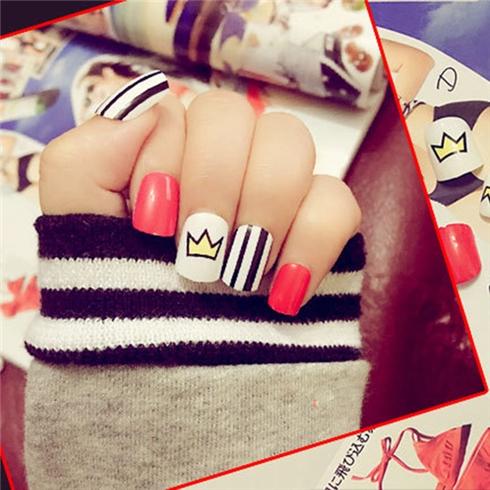 Set 24 Nails móng tay cực xinh kèm keo dán mẫu 377