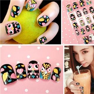 Cùng Mua - Set 24 Nails mong tay cuc xinh kem keo dan mau 385