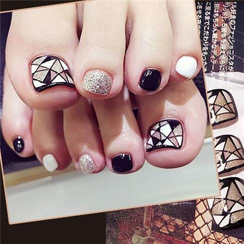 Set 24 Nails móng chân cực xinh kèm keo dán M 376