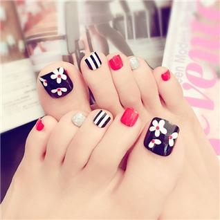 Cùng Mua - Set 24 Nails mong chan cuc xinh kem keo dan M 389