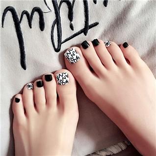Cùng Mua - Set 24 Nails mong chan cuc xinh kem keo dan M 390