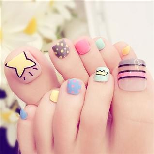 Cùng Mua - Set 24 Nails mong chan cuc xinh kem keo dan M 391