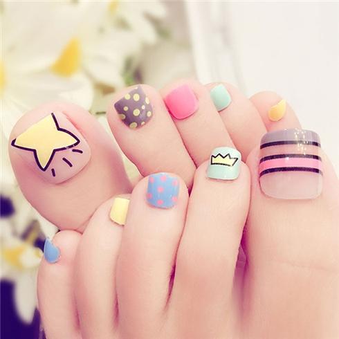 Set 24 Nails móng chân cực xinh kèm keo dán M 391