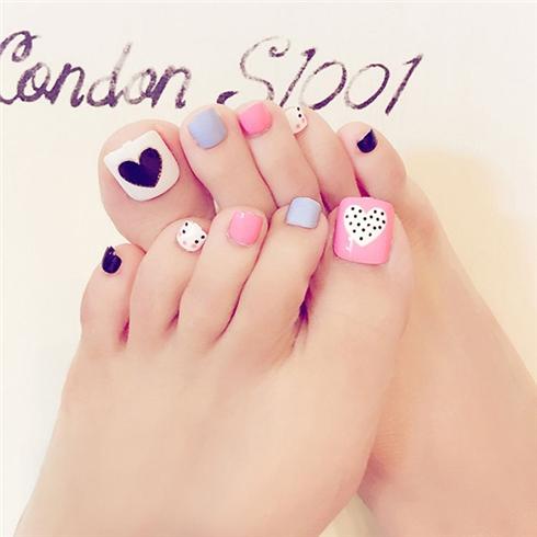 Set 24 Nails móng chân cực xinh kèm keo dán M 365