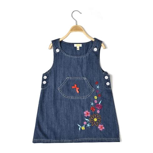 Đầm bé gái thêu hoa ALE JEANS MS 50112GD