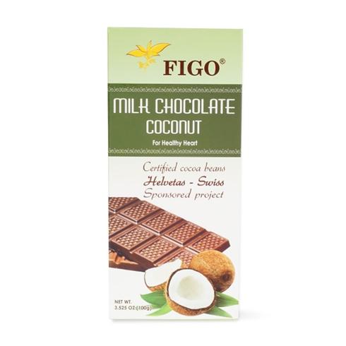 Socola sữa nhân dừa Figo 100g