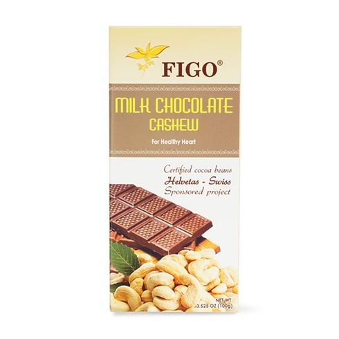 Socola sữa nhân hạt điều Figo 100g