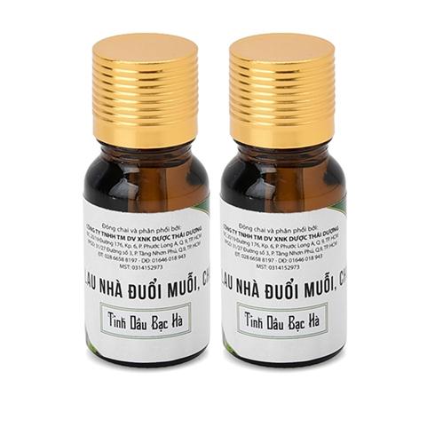 2 chai dầu lau nhà đuổi muỗi Thái An - tinh dầu bạc hà 10ml