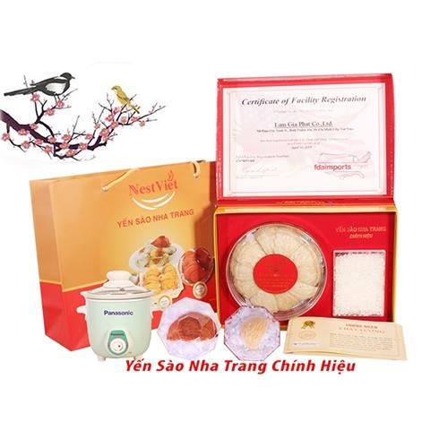 Yến sào Nha Trang (100gr)+12gr huyết yến/ nồi chưng/ lốc 6 hủ