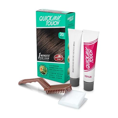 Thuốc nhuộm tóc phủ bạc Quicktouch màu nâu đen-20 (40g)