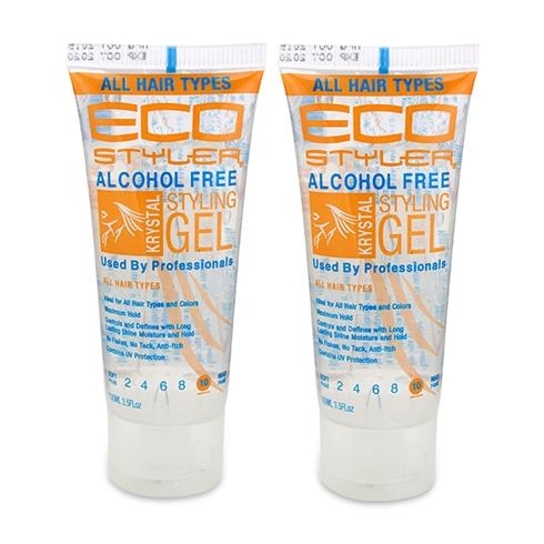 Combo 2 gel vuốt tóc không cồn Eco Styler màu trắng