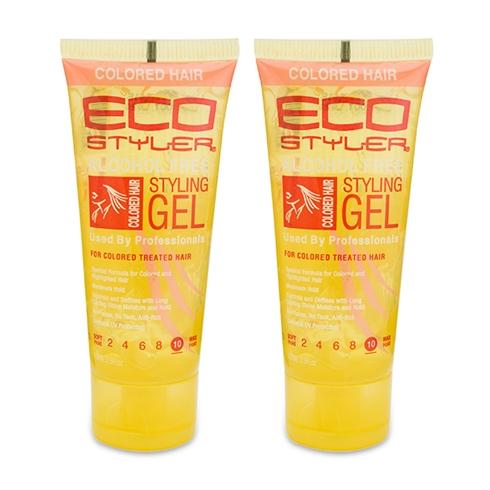 Combo 2 gel vuốt tóc không cồn Eco Styler màu vàng