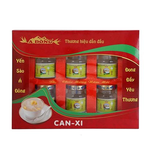 Yến nước chưng đường phèn canxi Á Đông (6 hũ / lốc)