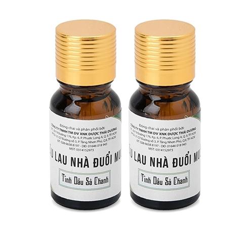 2 chai dầu lau nhà đuổi muỗi Thái An - tinh dầu sả chanh 10ml