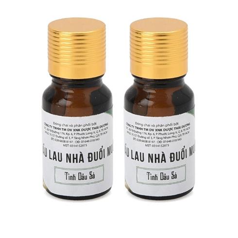 2 chai dầu lau nhà đuổi muỗi Thái An - tinh dầu sả 10ml