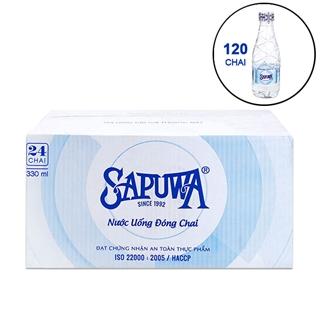 Cùng Mua - Combo 120 chai nuoc uong tinh khiet SAPUWA 330ml/chai - New
