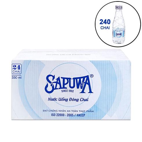 Combo 240 chai nước uống tinh khiết SAPUWA 330ml/chai - New
