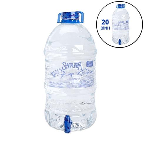 Combo 20 bình nước SAPUWA có vòi 5L/bình