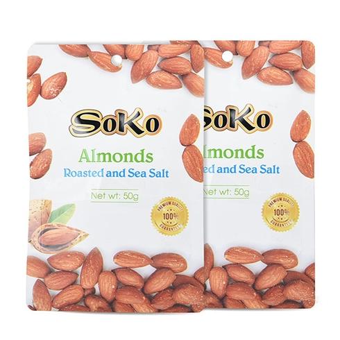 Combo 2 bịch hạnh nhân sấy muối SOKO 50g