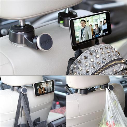 Móc treo Ipad, điện thoại và treo đồ sau ghế xe hơi CM7007
