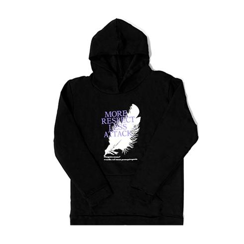 Áo hoodie unisex chất liệu vải nỉ có mũ màu đen
