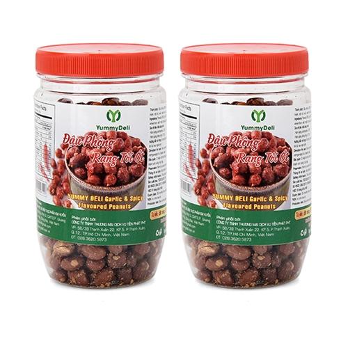 Combo 2 hủ đậu phộng rang tỏi Yummy Deli (200 gram / hũ)