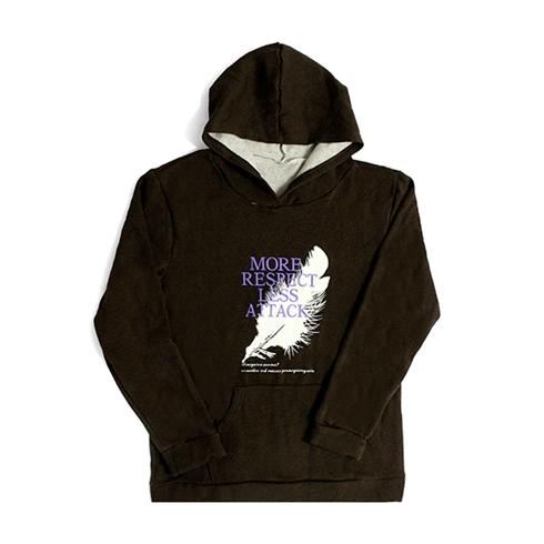 Áo hoodie unisex chất liệu vải nỉ có mũ màu nâu