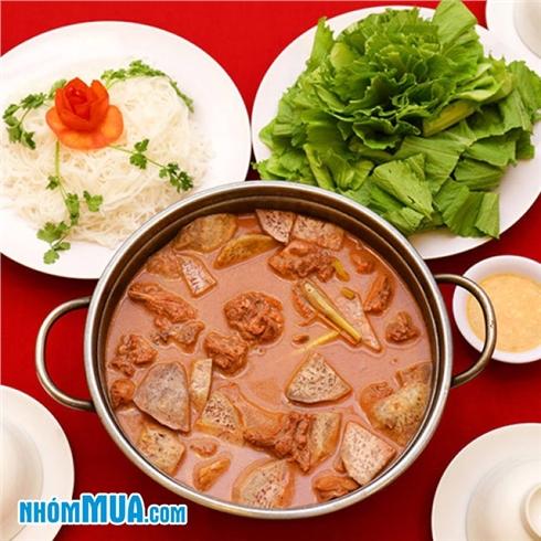 Lẩu vịt nấu chao 1.2kg siêu ngon cho 4 người - NH Sài Gòn Nhỏ