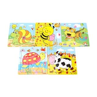 Cùng Mua - Combo 5 tranh ghep bang go Puzzle cho be yeu