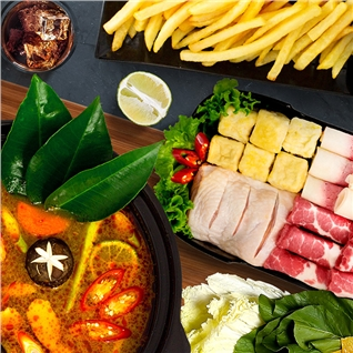Cùng Mua - Combo lau Tomyum Great + Pepsi tuoi (2-3 nguoi) - Food Center