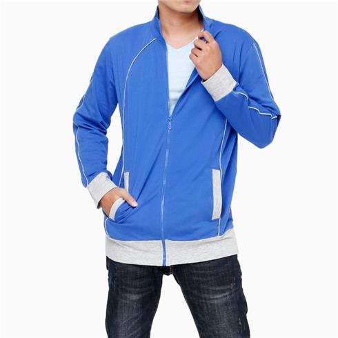 Áo khoác nam màu xanh phối xám