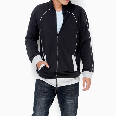 Áo khoác nam màu đen phối xám