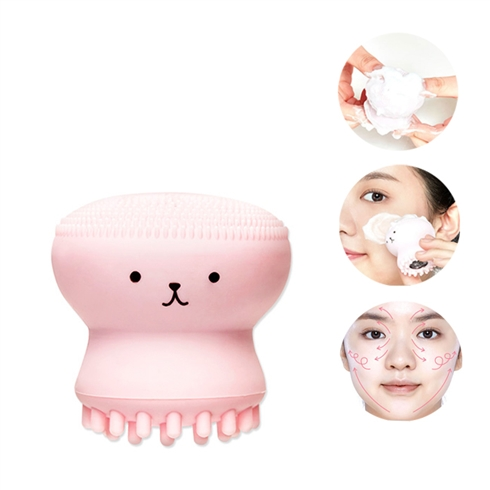 Bạch tuộc silicon massage tạo bọt rửa mặt siêu sạch