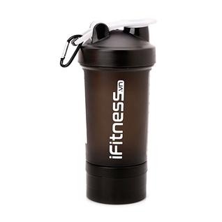 Cùng Mua - Binh lac iFitness Pro Shaker 4 in 1 cao cap mau den 600ml
