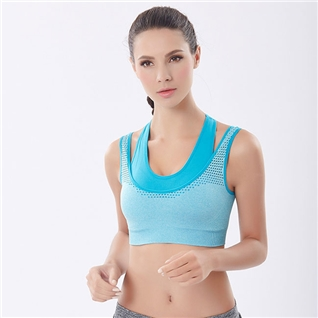 Cùng Mua - Ao tap gym va yoga Seamless xanh duong