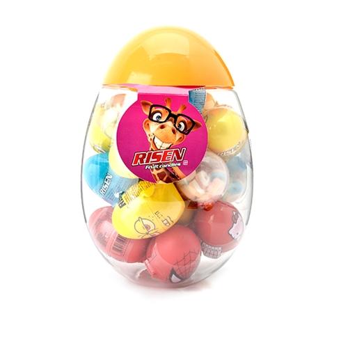 Hộp Kẹo Mỹ Fruit Candies Risen 20 trứng nhiều họa tiết cho bé